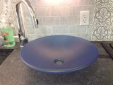 Martini Blue Glass Sink